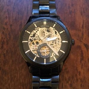 Black Fossil Watch